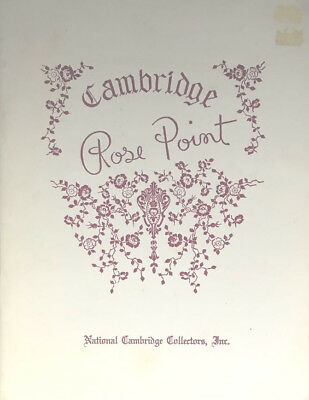 Book: Cambridge Rose Point by Mark Nye  National Cambridge Collectors  (TOB1525)