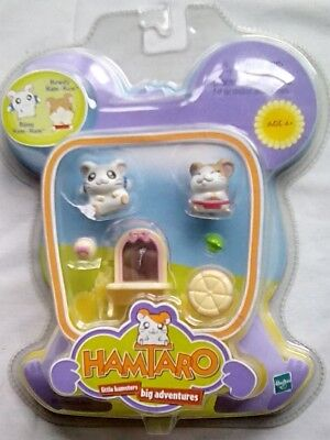 NIP, Hasbro collectible toys,  Hamtaro, little hamsters, big adventures, 2001, H