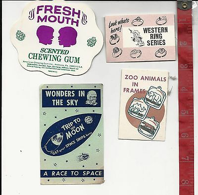Vintage lot display Paper 4 pieces for vending machines FREE SHIPPING #7