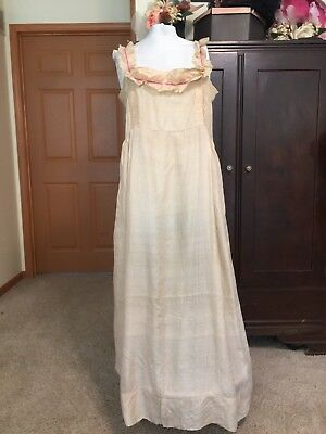 Antique Victorian Edwardian Silk Corset Cover Nightgown xx Large 40+ Bust
