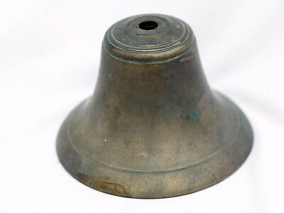 Antique Brass Bell Ship School Dinner Vintage Heavy Old Farm Rustic Decor 6 inch