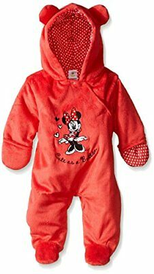 Disney Baby Girls' Cute As A Button' Minnie 0/3 Mo Snow Suit
