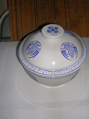 """Vintage Made in China"""" Blue and White Porcelain Crane Rice/Serving Large bowl"""
