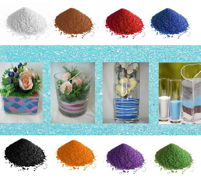 Free Postage Coloured Quartz Sand GRIT Artists Crafts Wedding Floristry DECOR