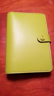 filofax a5 pear green leather organizer