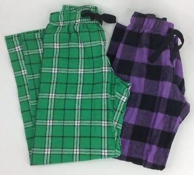 Boxercraft Girl Plaid Flannel Pajama Lounge Pants Youth Child Sizes Purple Green