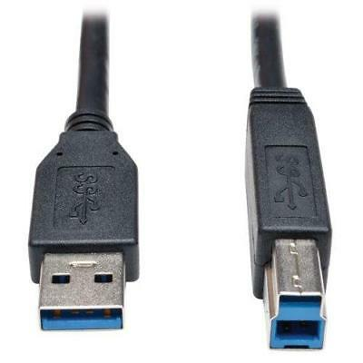 TRIPP LITE 15-Feet USB 3.0 SuperSpeed Device Cable 5Gbps AB M/M, Black...