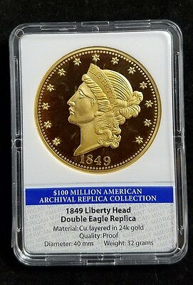 American Archival Collection 1849 Liberty Double Eagle American Mint