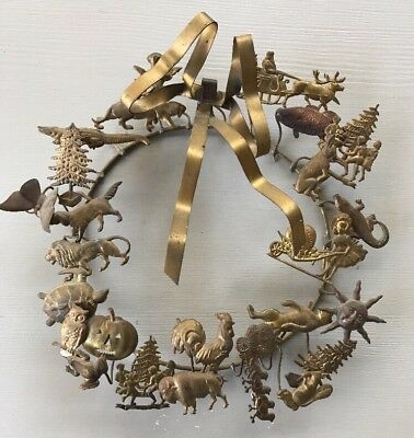 Antique Dresden Brass Animal Holiday Christmas Halloween Valentines 10 Inches