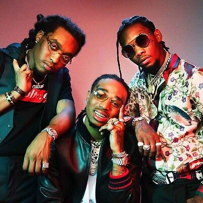Migos Hip Hop Rap Artist poster wall decoration photo print 24x24 inches