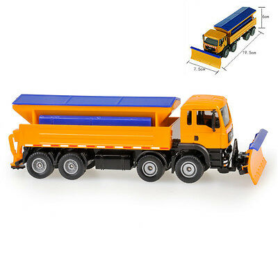 Winter Service Vehicle Snowplow Truck Cars Model Toy 1:50 Scale Diecast in box