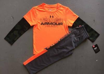 """Boy's Size 4 Under Armour """"hunt"""" Shirt & Gray Pants Outfit Nwt"""
