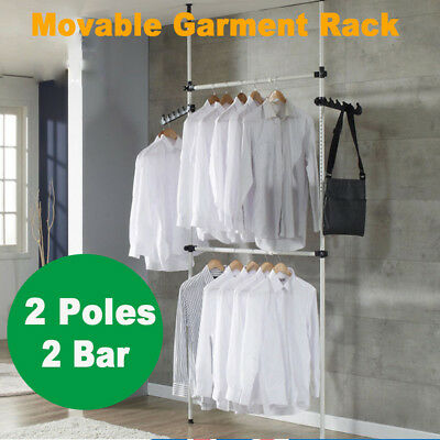 Clothes Garment Rack Hanger Laundry Drying Stand Display Movable Organizer AU