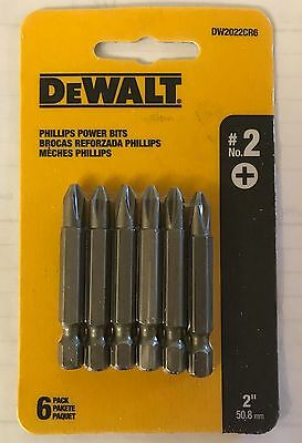 "Dewalt 6 Pc 2"" P2 Phillips Power Bits Dw2022Cr6 Screw Bits (1 Pack 6 Bits)"