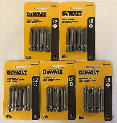 "Dewalt 30 Pc 2"" P2 Phillips Power Bits Dw2022Cr6 Screw Bits (5 Packs 6 Bits Ea)"
