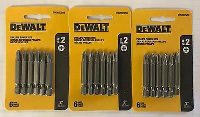 "Dewalt 18 Pc 2"" P2 Phillips Power Bits Dw2022Cr6 Screw Bits (3 Packs 6 Bits Ea)"