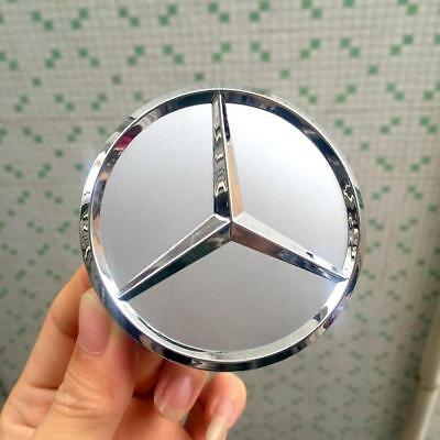 4 x WHEEL CENTRE HUB CAPS Cover Badge Emblem for Mercedes Benz Matte Silver