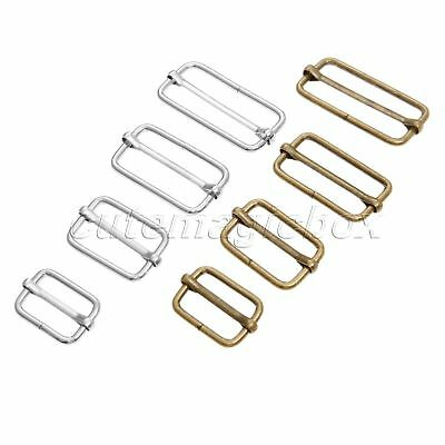 20pcs Luggage Sewing Handmade Bag Purse Buttons Adjustable Square Ring Buckles