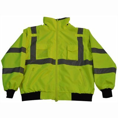 Petra Roc LBJ-C3-S ANSI Class 3 Waterproof Safety Bomber Jacket with Removable F
