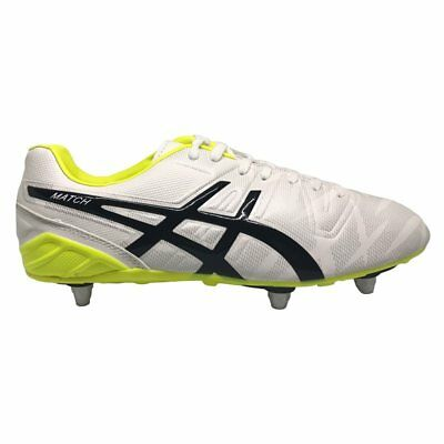 Asics Match ST Rugby Boots - White/Black
