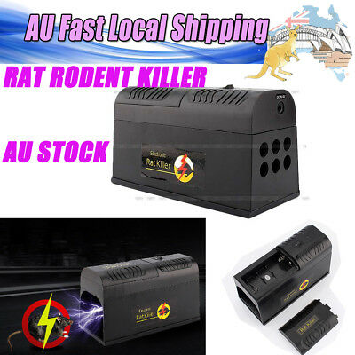 New High Voltage Electronic Mice Rat Mouse Killer Repeller Electric Trap AU