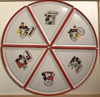 Disney Parks Mickey Minnie Mouse Pizza Plates Melamine Italian Phrases Set of 6  sc 1 st  PicClick & Plates Contemporary (1968-Now) Disneyana Collectibles Page 29 ...