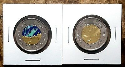 Canada 2017 Dance of the Spirits Toonies (Coloured & Plain) From Mint Rolls!!