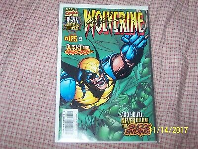 Marvel Comics Wolverine 125 Signed By Chris Claremont - C32