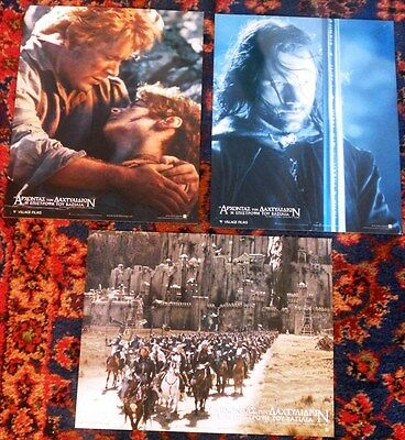 L.r. The Return Of The King Set Of 11Original Greek Lobby Cards Rare