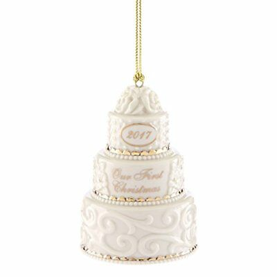 Lenox 2017 Our 1st Christmas Together Wedding Cake Ornament