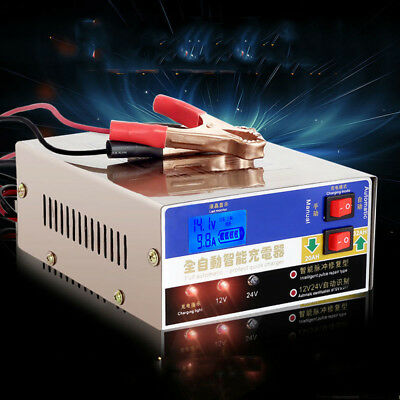 Universal 110V 100AH Motorcycle Smart Battery Charger Pulse Charging Repair 12V
