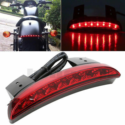 Red Chopped Fender Edge LED Tail Light Turn Signals For Harley Sportster XL883
