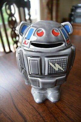 vintage 60s/70s robot money box some damage see photos