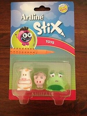 Artline Stix Toys, Animals - 3 PACK (for Stix Markers, Pens and Brushes)
