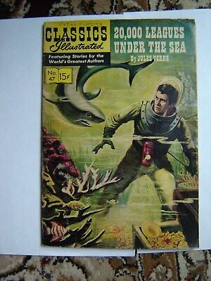 classics illustrated #47 20000 leagues under the sea HRN148 VG
