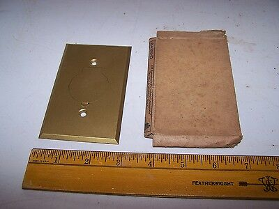 Vintage Brass Hinged Outlet / Switch Cover LID RECEPTACLE PLATE