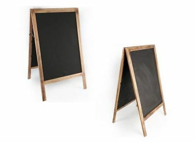 Doublesided Wooden Chalk Board Easel Sandwich Shop Cafe Sign Advertise Pavement