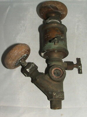 Oiler - Lubricator Vintage Major by Lunkenheimer Co. Cin. Ohio, Brass/Wood Knobs