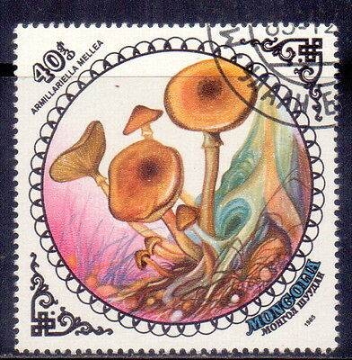 Mongolia STAMP Armillariella mellea Theme  Mushrooms 1985.