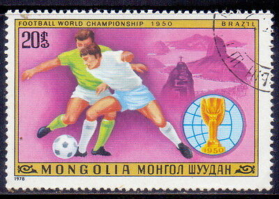 Mongolia STAMP  Football (Soccer) Brazil 1950 1978.