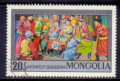 Mongolia STAMP   Stage scenes from operas and dramas  1974.