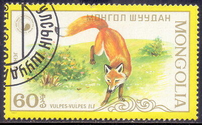 Mongolia STAMP  Red Fox (Vulpes vulpes) Animal (a1) 1987.