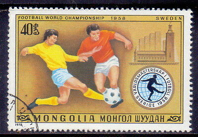 Mongolia STAMP  Football Sweden 1958  1978.
