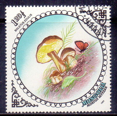 Mongolia STAMP Cep (Boletus edulis)  Theme  Mushrooms 1985.