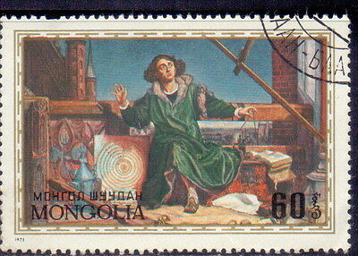 Mongolia STAMP Nicholas Copernicus, astronomer and mathematician 1973.