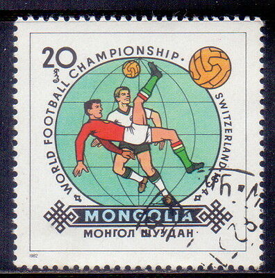 Mongolia STAMP  Football   Sweden, 1958 1982.