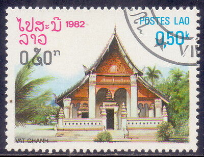 Laos Stamp Vat Chanh Theme Temple 1982.