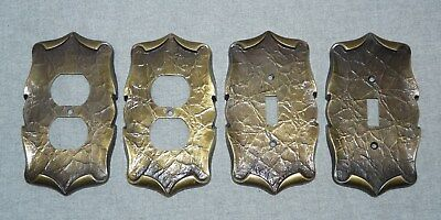 Vintage Amerock Carriage House Outlet & Switch Cover Plates Antique Brass
