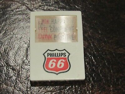 Vintage Phillips 66 Service Station Attendant Flasher Button Clip On Badge Promo