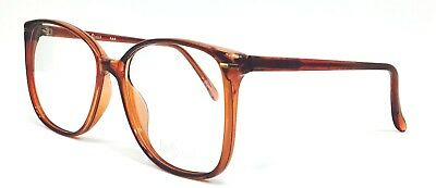 New Vintage Retro Large Glasses/Spectacle frame Smoke Brown -For prescription-